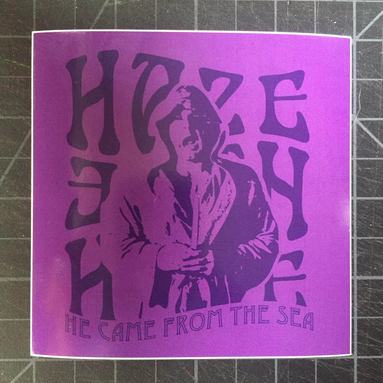 """Haze Sticker - 4""""x4"""" glossy vinyl sticker matching the shirt design"""