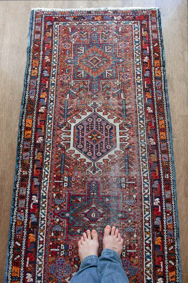 antique rug: thehousediaries.com