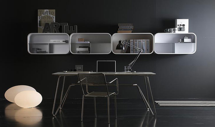 Black-Room-Decor-for-Work-Desk-with-White-Shelving-System.jpg