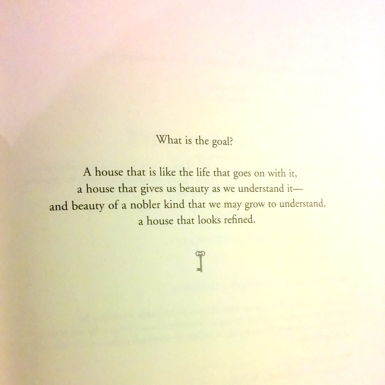 "Taken from the book ""The house in good taste"" by Elsie de Wolfe."