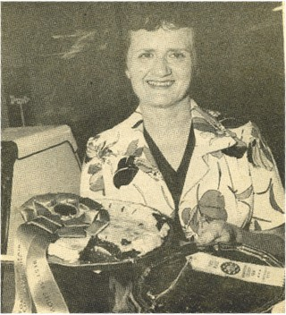 the pie contest vintage photo black and white pies with ribbons Lillians cupboard.jpg