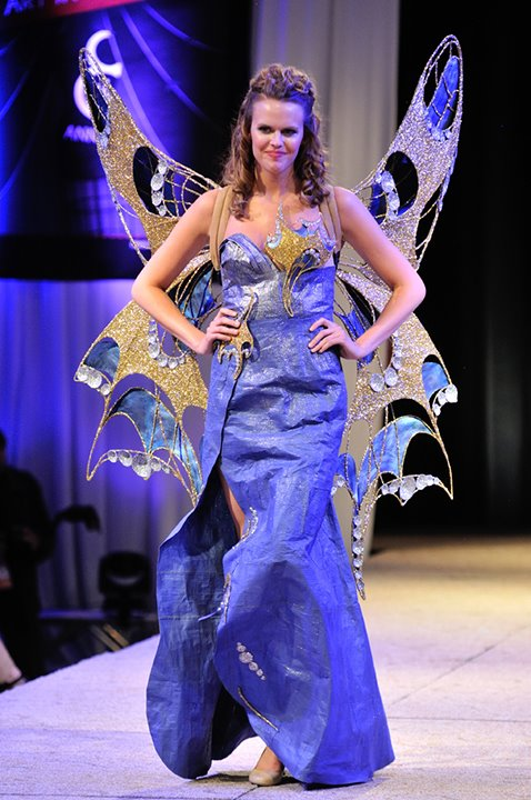 winning dress ADCD Paper Fashion Show 2012  Butterfly Dress on the Runway ADCD Annual Paper Fashion Show 2012,CC BY-NC-ND, with special permission via Dave Ingraham