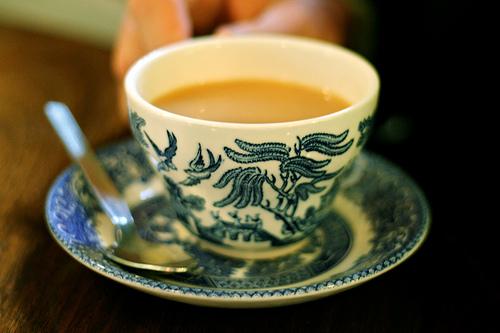 Blue Willow Teacup and Saucer.