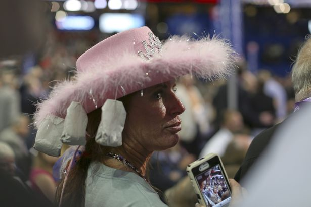 Tea Party Pink Lady. How about that hat.. Are those feathers cool or what?