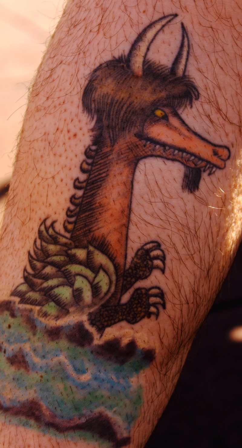 "Where the Wild Things Are  dragon, from ""and in and out of weeks and almost over a year to where the wild things are"""