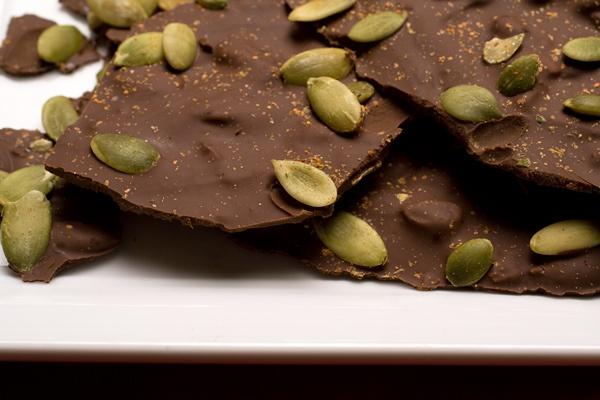 Chocolate Toffee - Pumpkin Seed Bar
