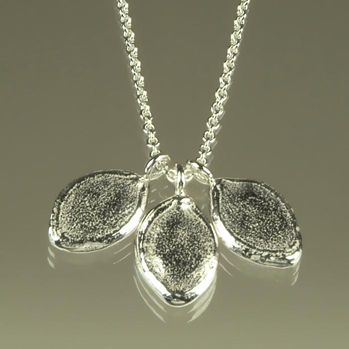 Pumpkin Seed Sterling Silver Necklace - Ann K Organic Designs, 2012©