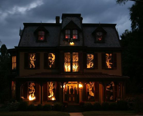 The outside of your  house  is all nice and spooky... but, um, I'm not feelin' it with that inside decor. I think your walls could use a bit of help...