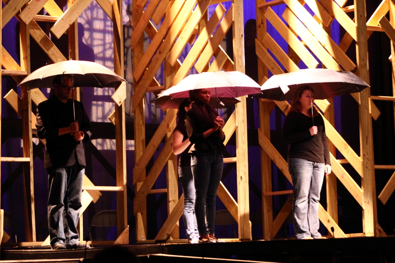 From left to right: Joseph Hosea, Morgan Patterson Gill, Lauren Fleischer. ©Photo by Michelle PG Richardson