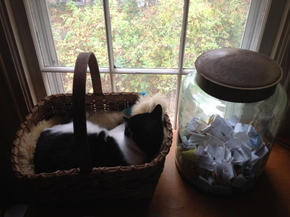 Author Elizabeth Gilbert's very own original Happiness Jar.