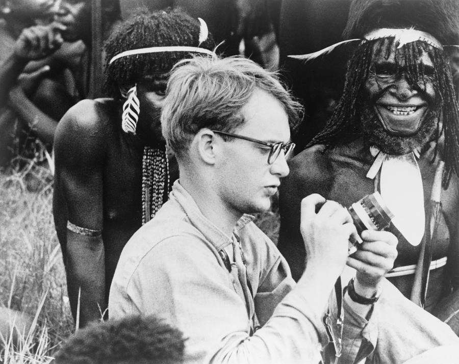 Michael Rockefeller, son of Vice President Nelson Rockefeller, disappeared in southwestern New Guinea during an expedition in 1961, when his catamaran was tossed by waves. He was last seen swimming to shore. Was he kidnapped? Killed and eaten by local headhunters? Hiding in the Jungle? Taken prisoner?