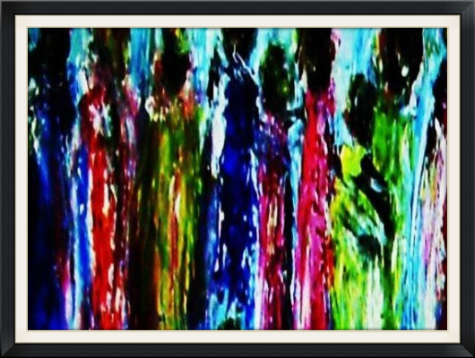 """""""The crowds gathered as I washed away my sins and pain. . . . """" Art by Daniel Quinlan, narrated by Cindy Vine."""