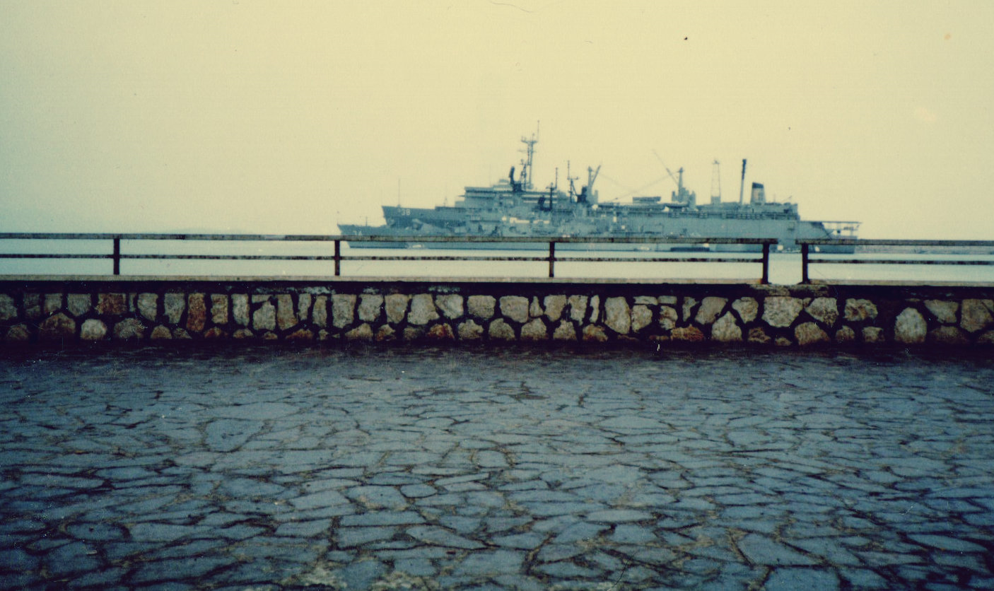 Photo by Kelly Sullivan: The USS Puget Sound located at the time in Gaeta Italy