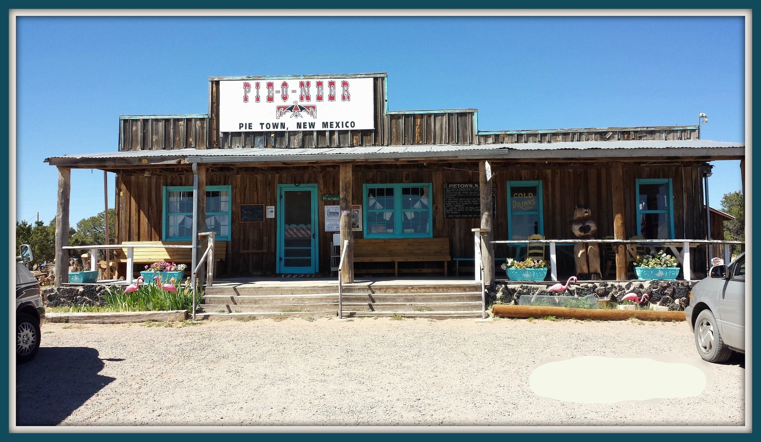 """Pie-o-neer Shop Front:  Come on in for """"A Little Slice of Heaven""""."""
