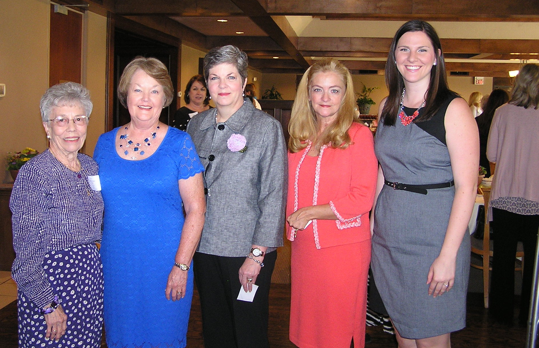 Barbara Cromer Ritter, Carol Bitting Carter,  Joan Corbett Burns, Michelle Norris Montalbano, and Katy Tipton.