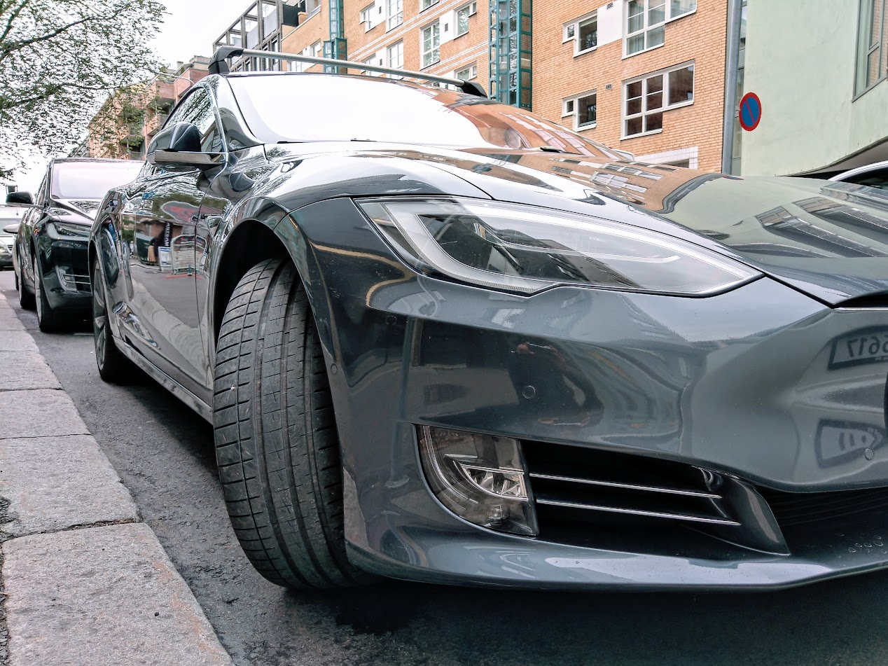 Tesla Model S and Model X parked at random street in Oslo, Norway.