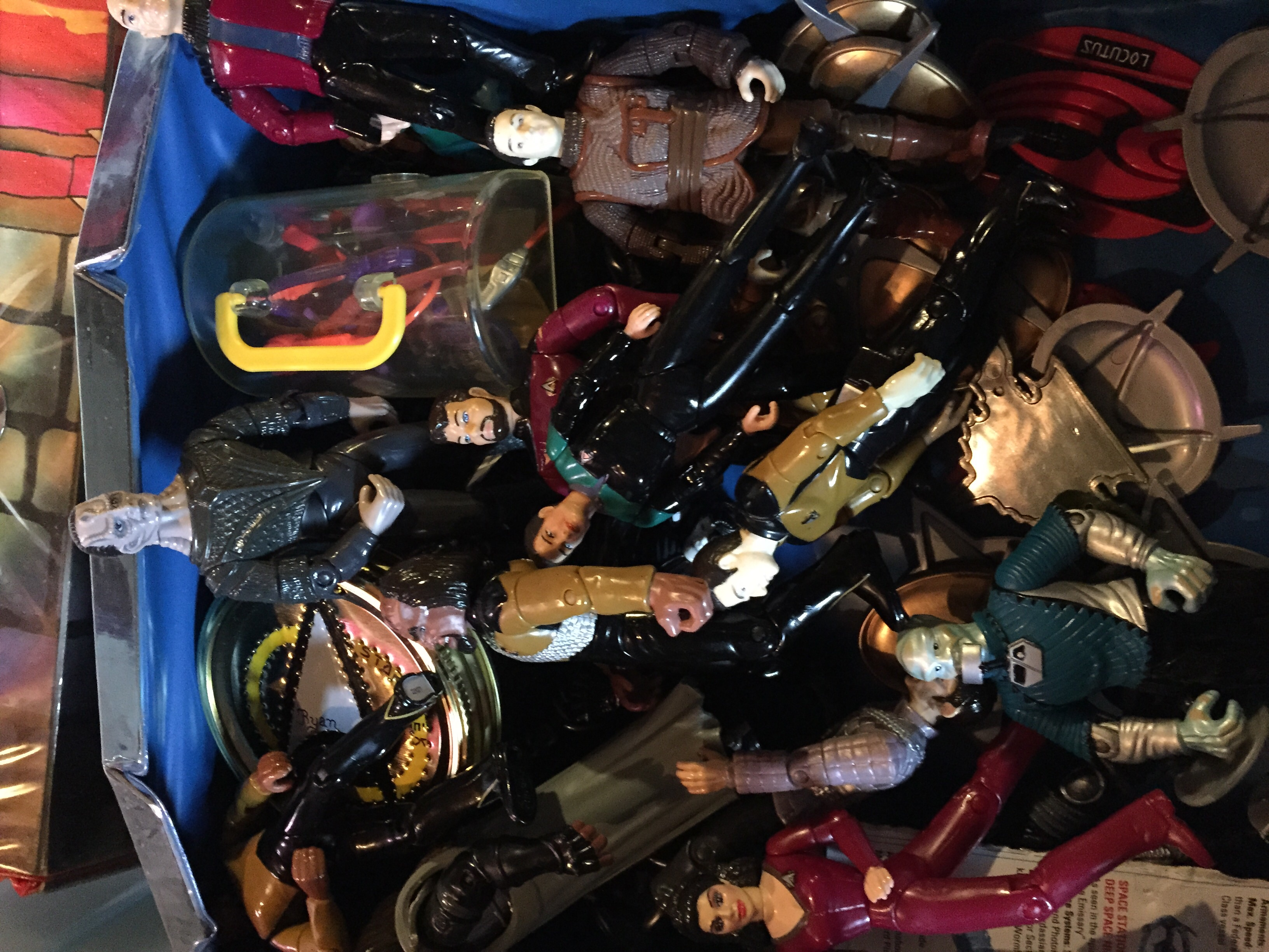 A case of Star Trek action figures. I was pretty cool.