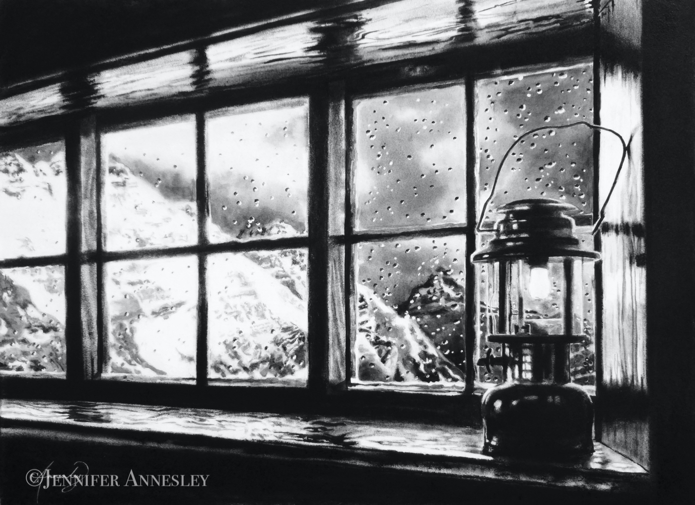 """Window Weather, Abbott Hut"""