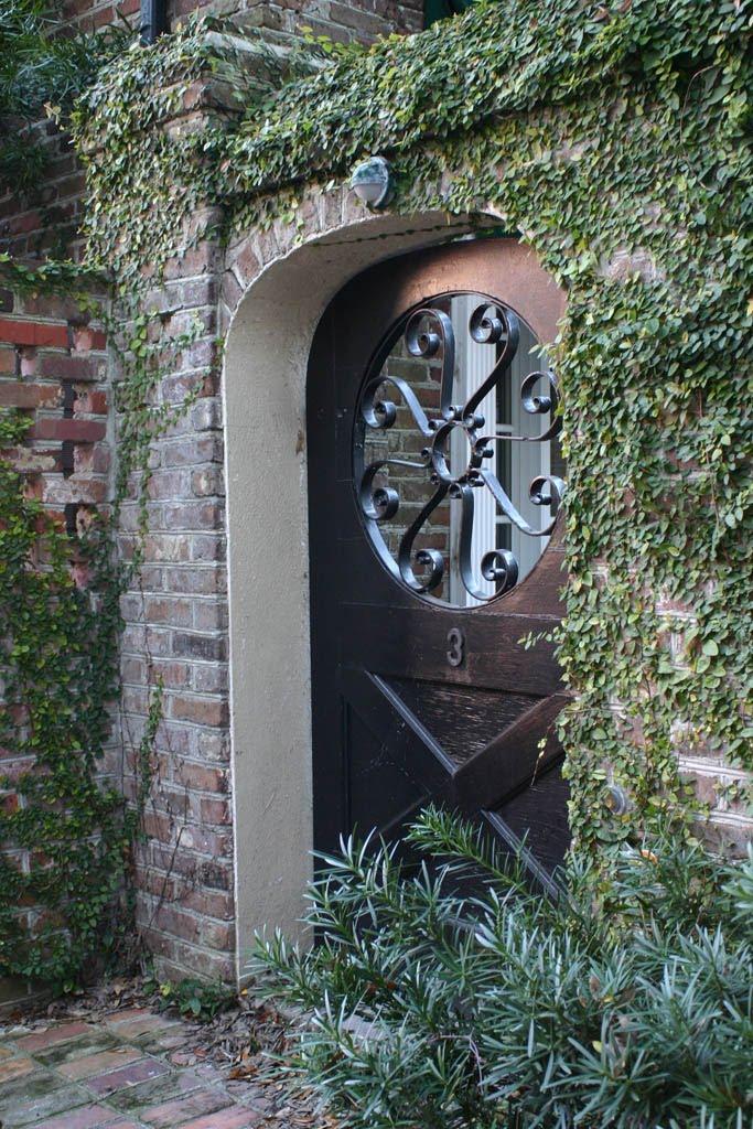 Interesting door in downtown Charleston;