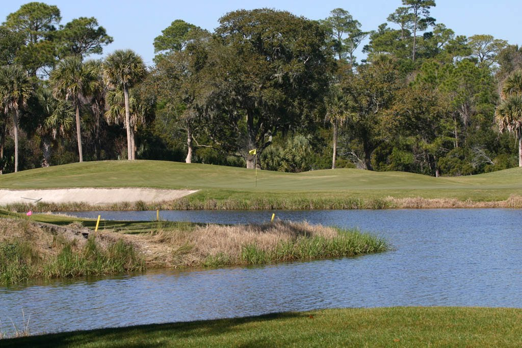 One of the holes at Osprey Point, on Kiawah Island.