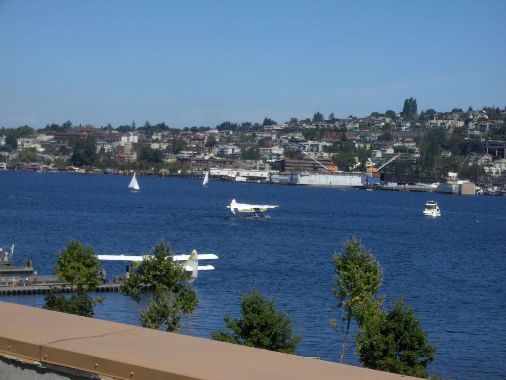 Seattle Harbor from my hotel window.