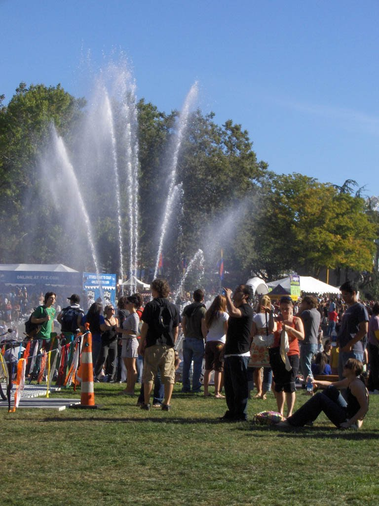 The main fountain at Seattle Center