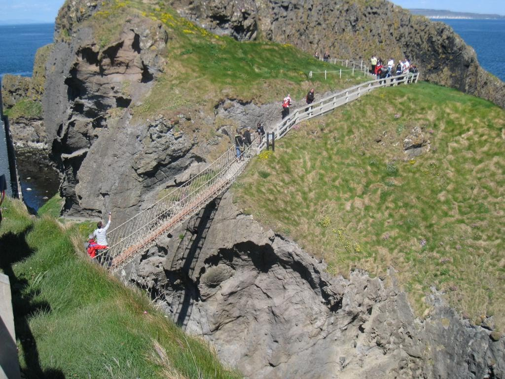 The rope bridge to Carrick-a-rede Island