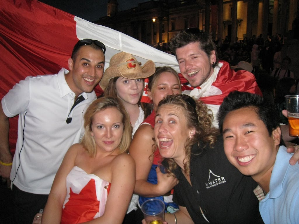 The Canada Day gang - plus a few hangers on...