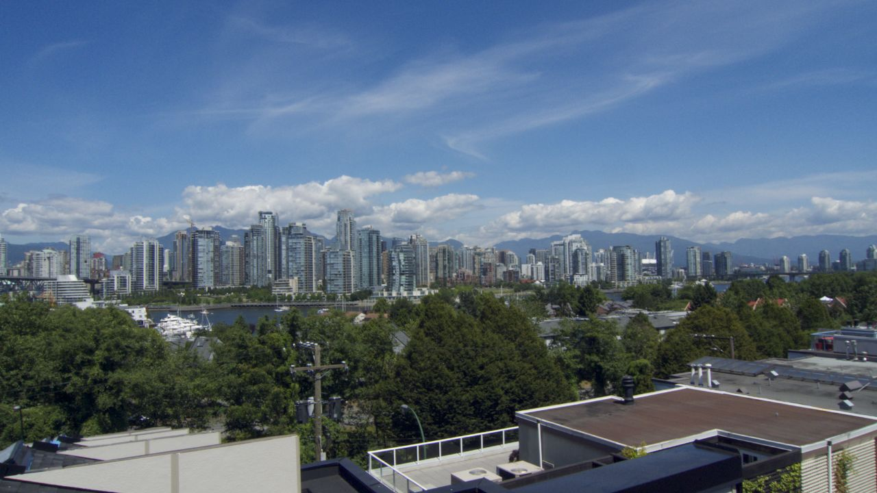 The view from our rooftop deck - well sort of. We're actually the next one down, but this should be pretty close.