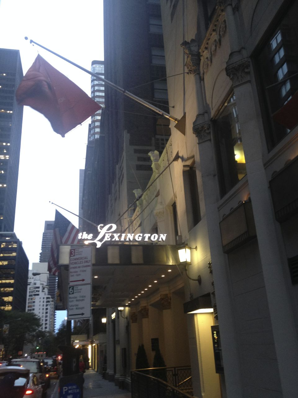 The outside view of the hotel I was staying at.