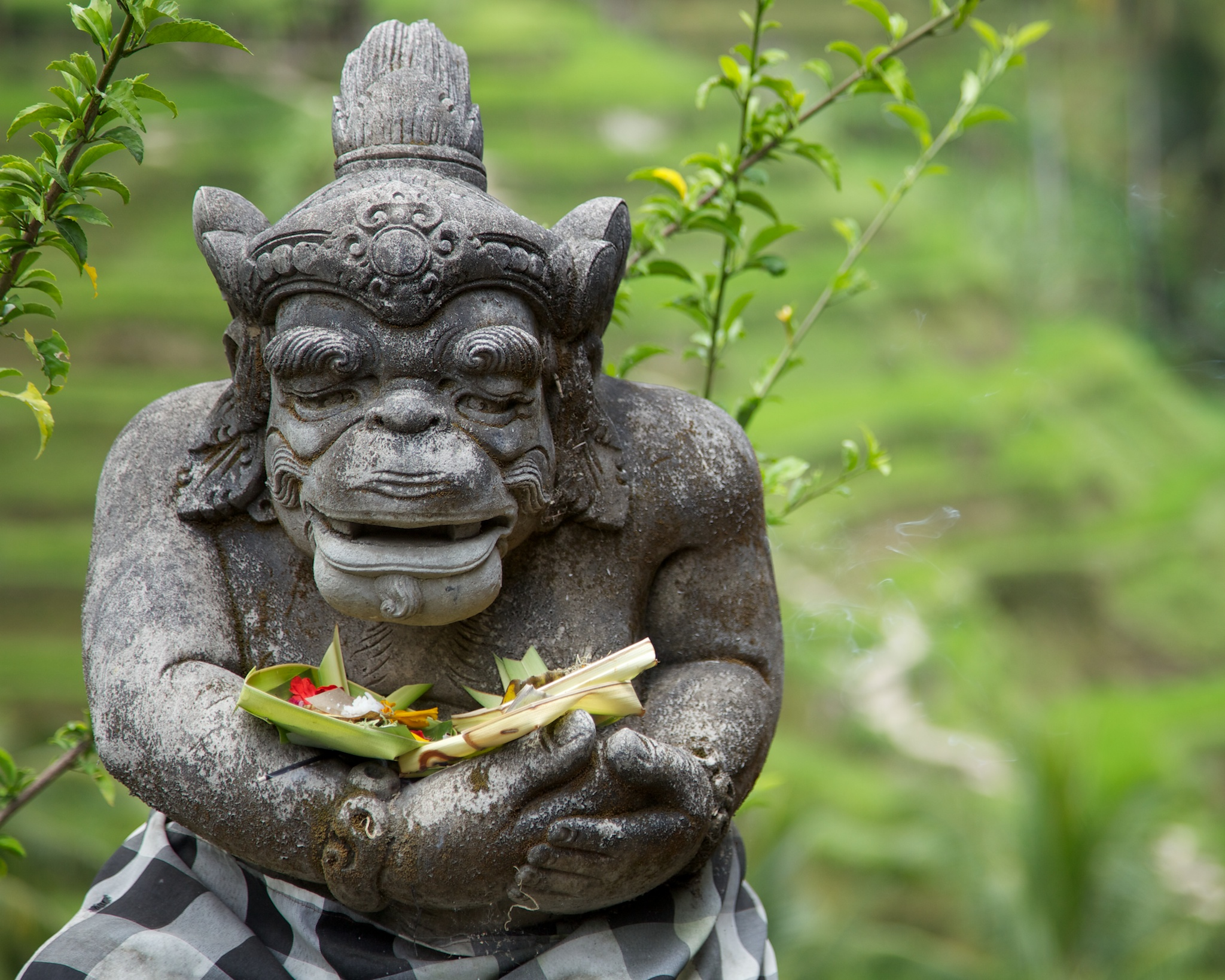 As I said, the statues and offerings were everywhere around Bali.