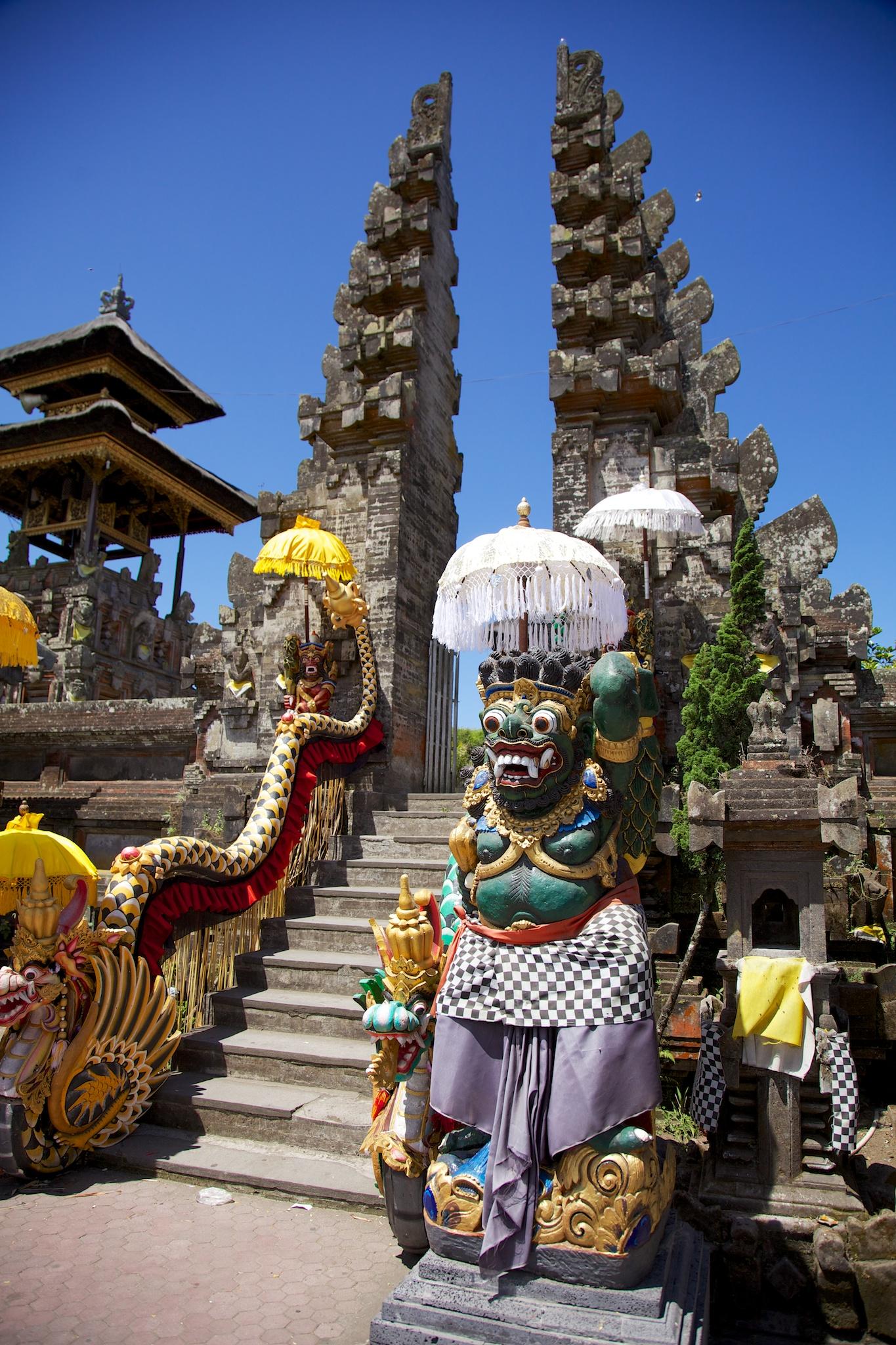 One of the entrances to Pura Ulundanu Batur.