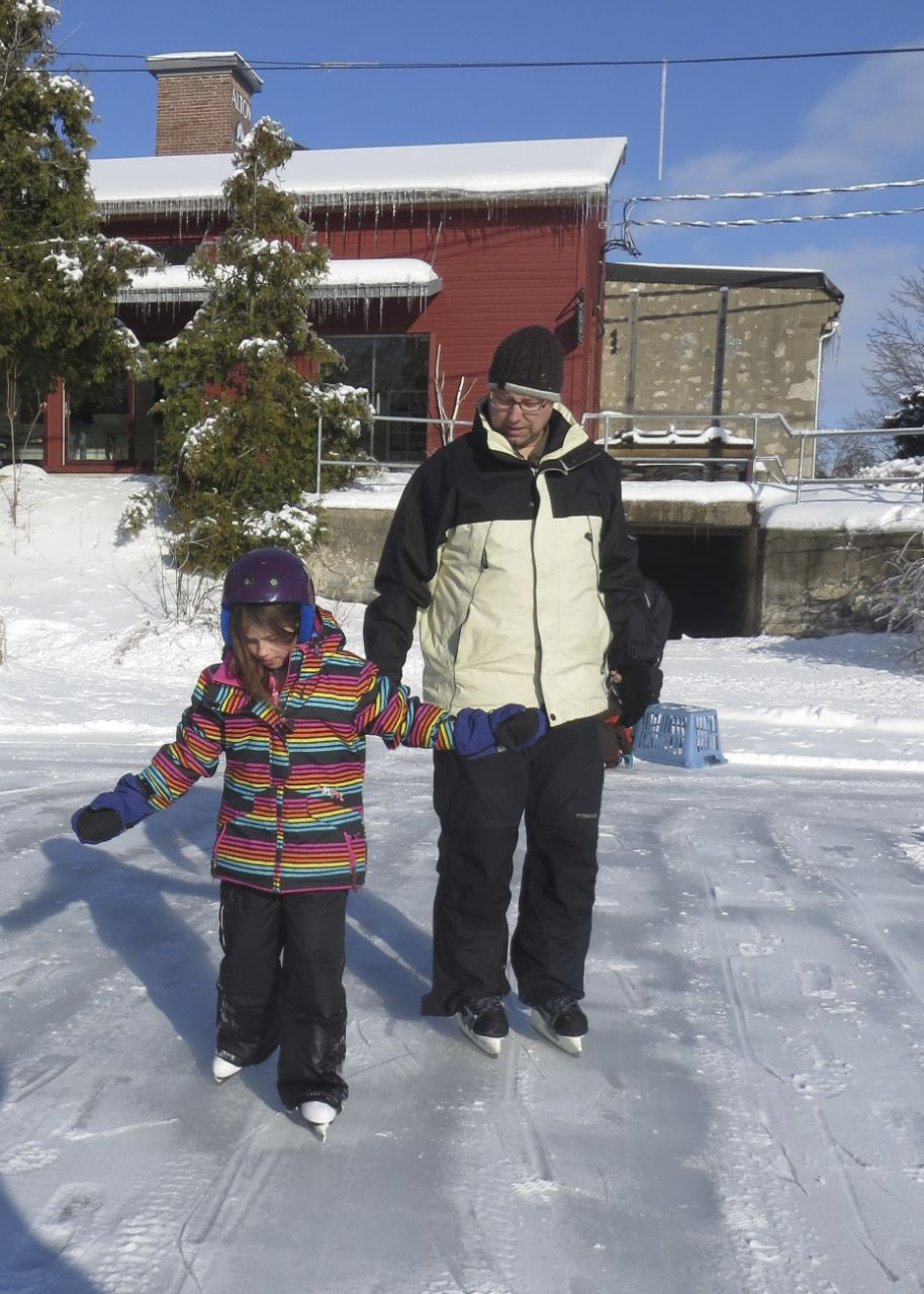 Mackenzie and I heading out on the ice. It was such a beautiful day!