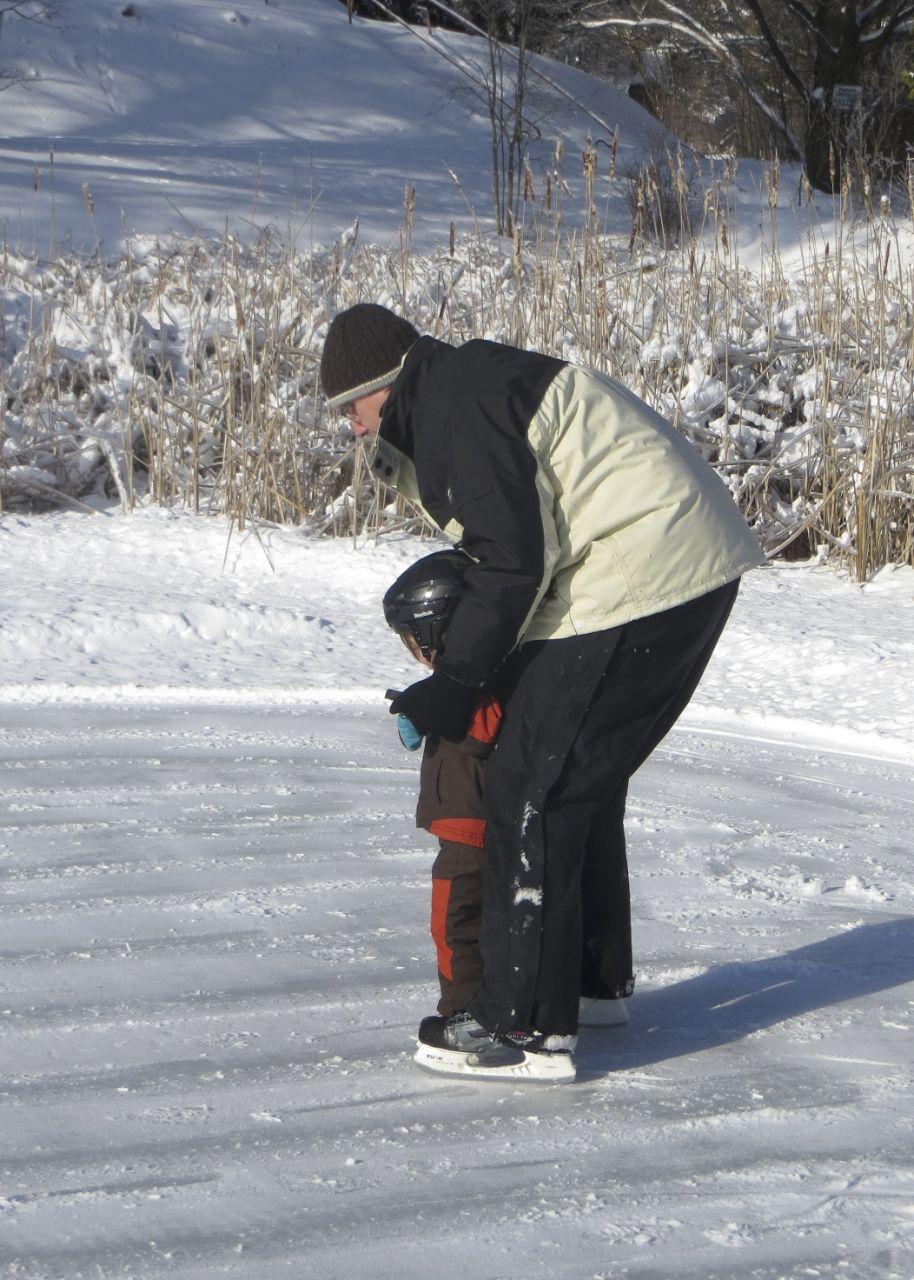 Lane and I skating.