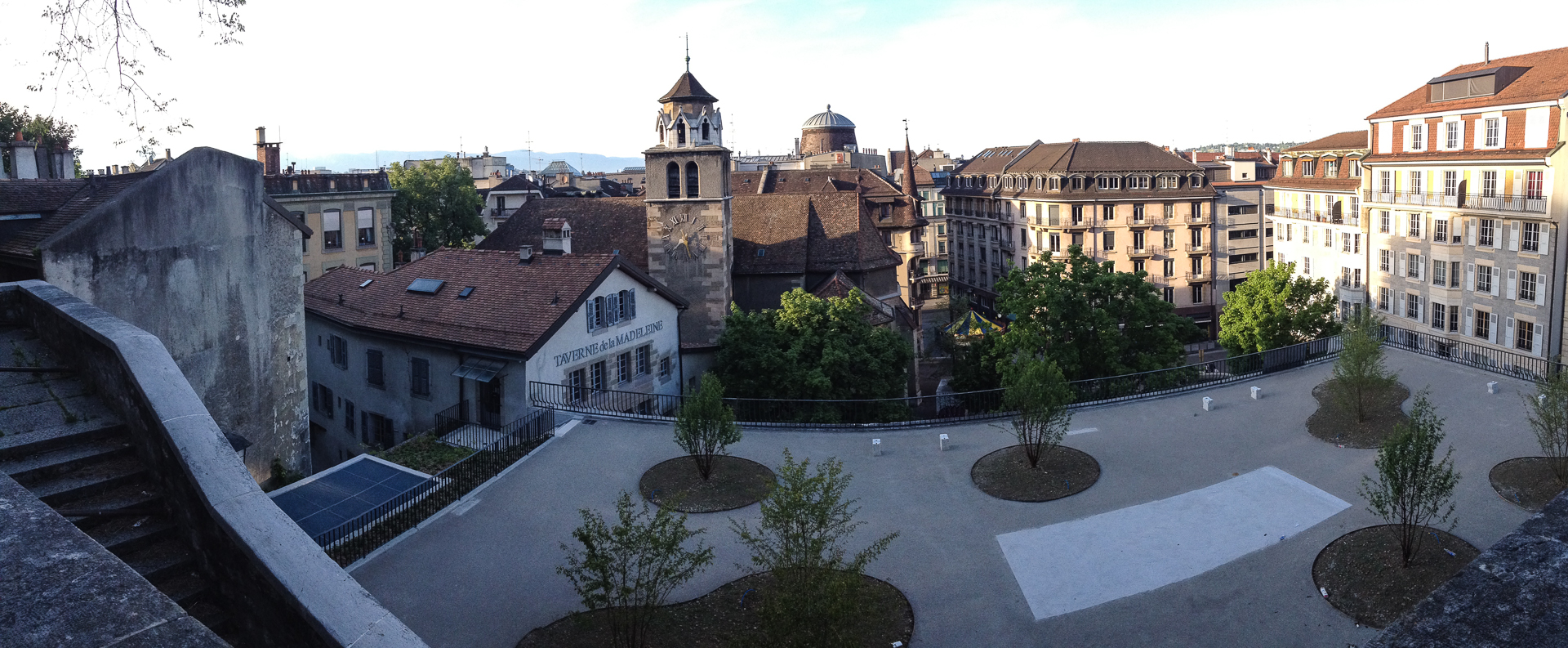 A small pano of the old town, from the base of the city's main church.