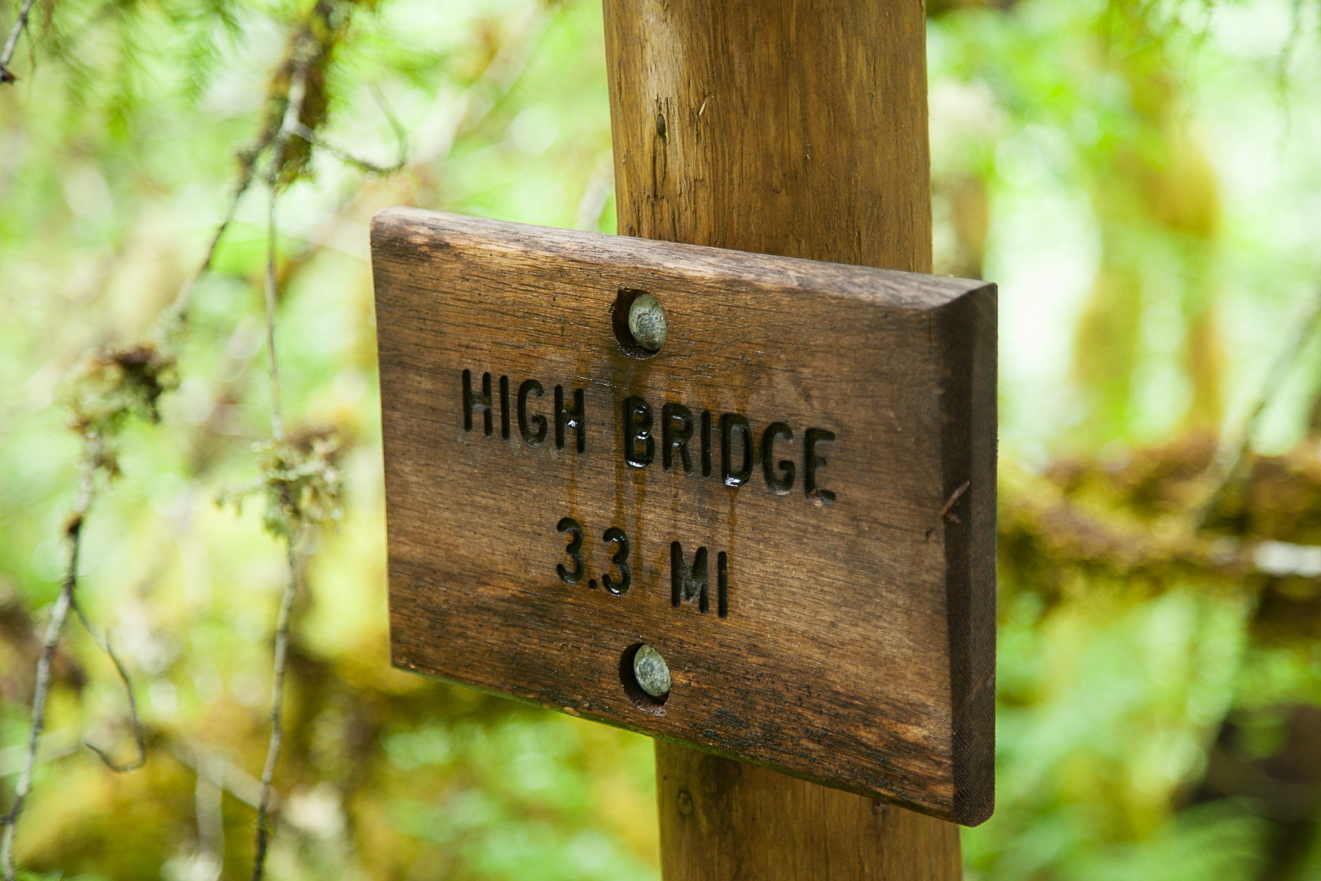 The sign for HIgh Bridge