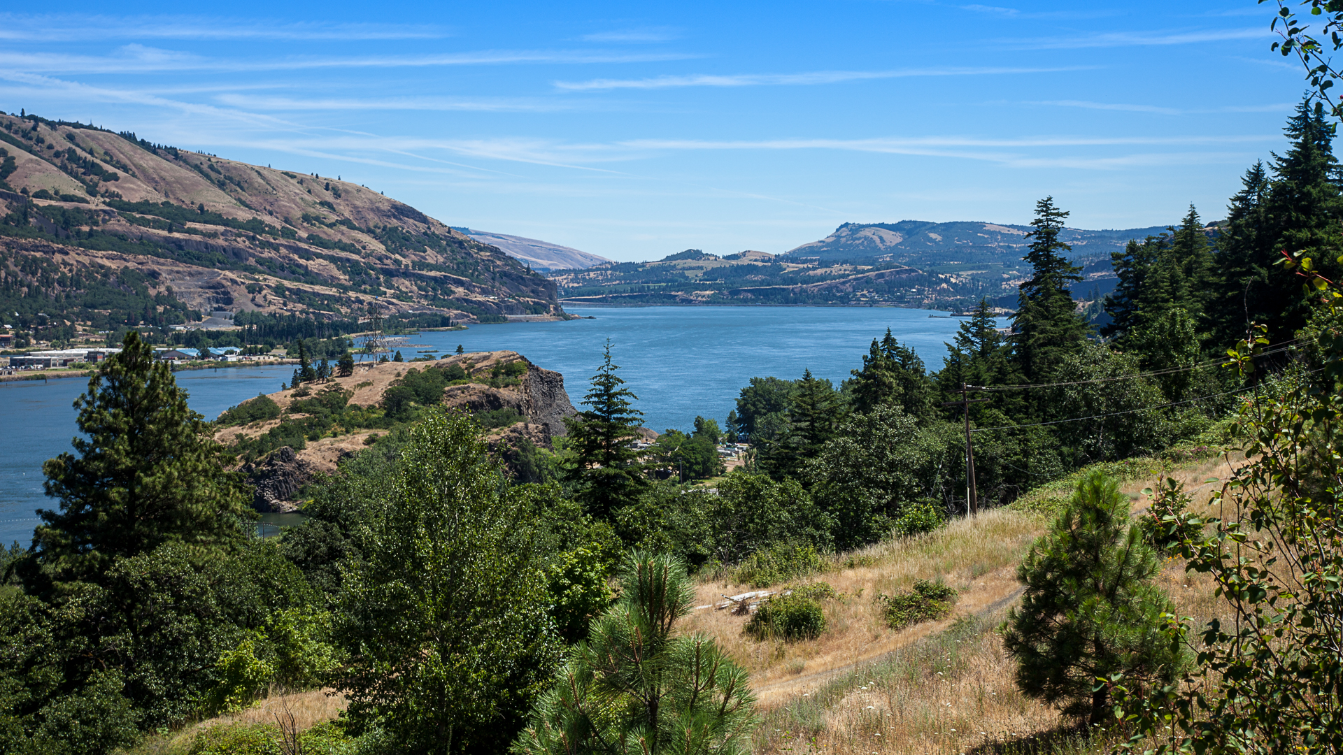 A view of the Columbia River from the start/end of our ride.