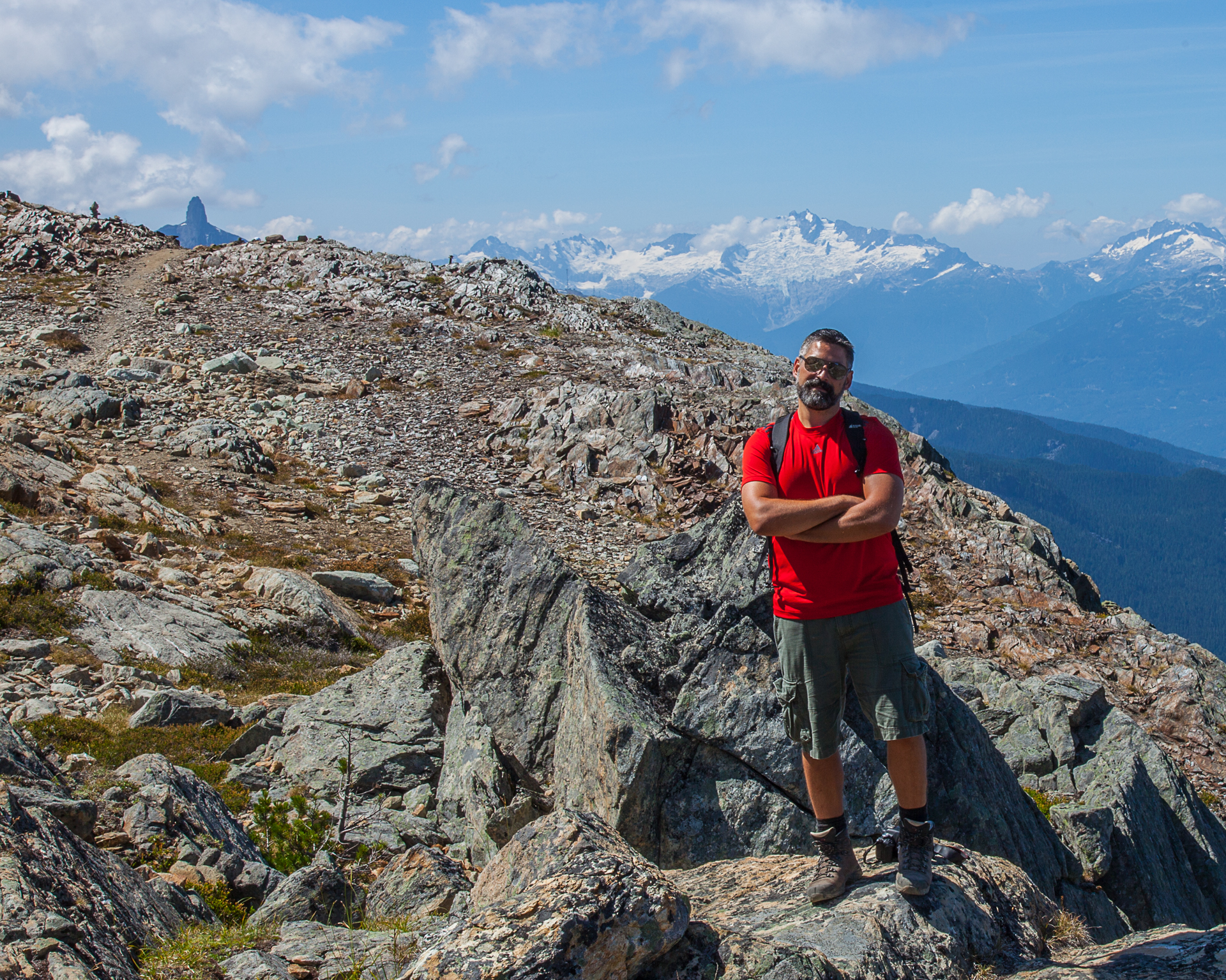 Anthony posing along the early trail.