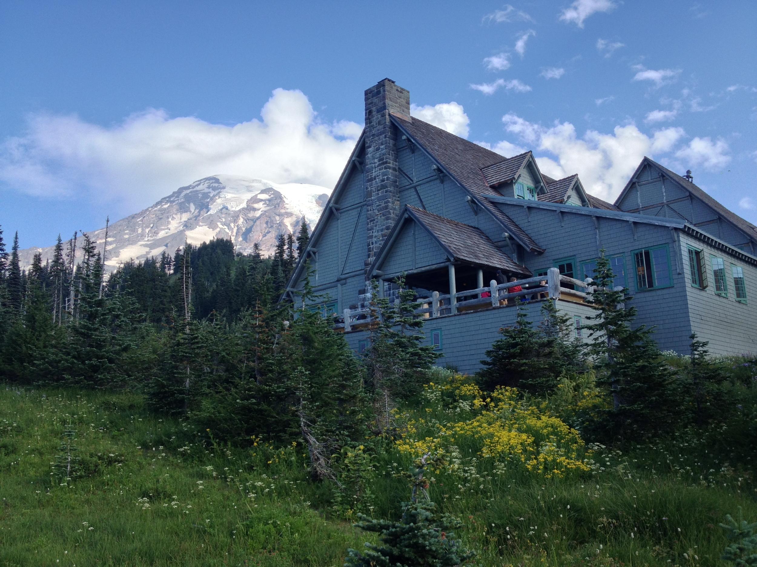 A quick iPhone shot of the Paradise Inn on Mount Rainier.