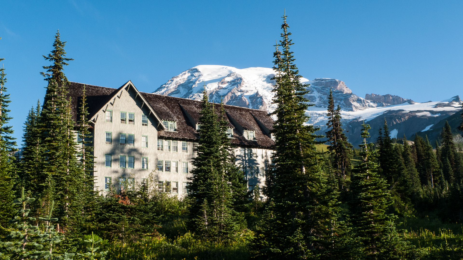 Our last morning at Mount Rainier was spectacular, and we were a bit sad to be leaving. Still, it had been a great couple of days, and we were excited to continue the road trip and see what was ahead.