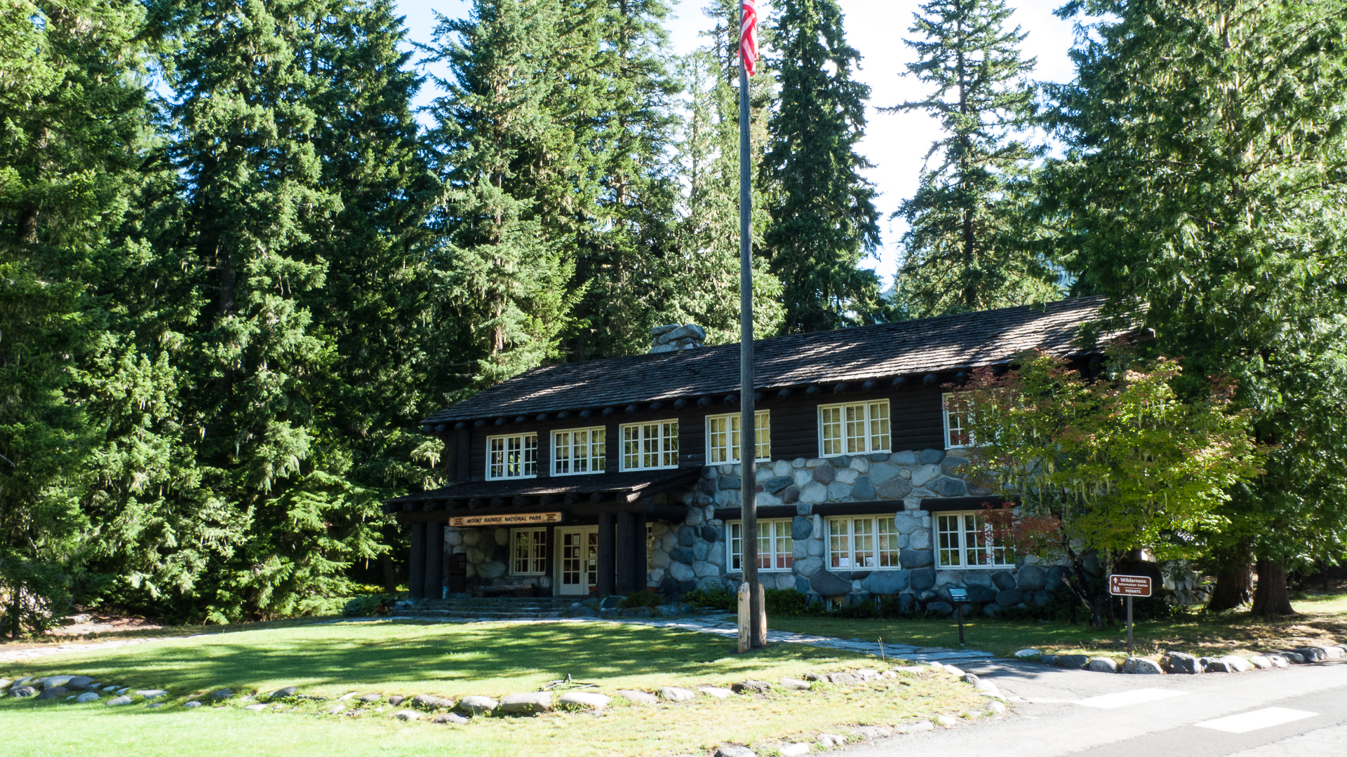 The Ranger Station at Longmire - one of the many historical sites in the park.