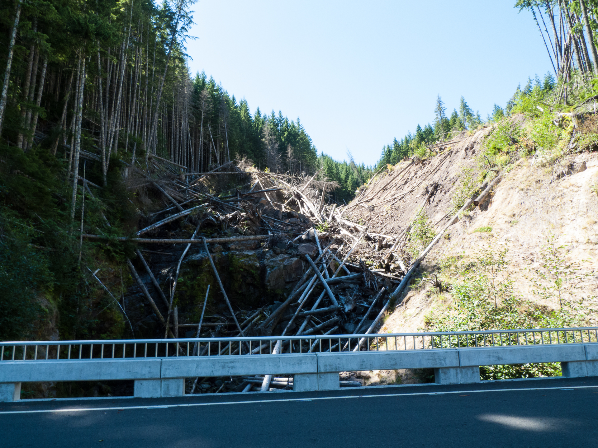The results of the lahar from a few years ago. The photo doesn't do the sheer volume of the destruction justice.