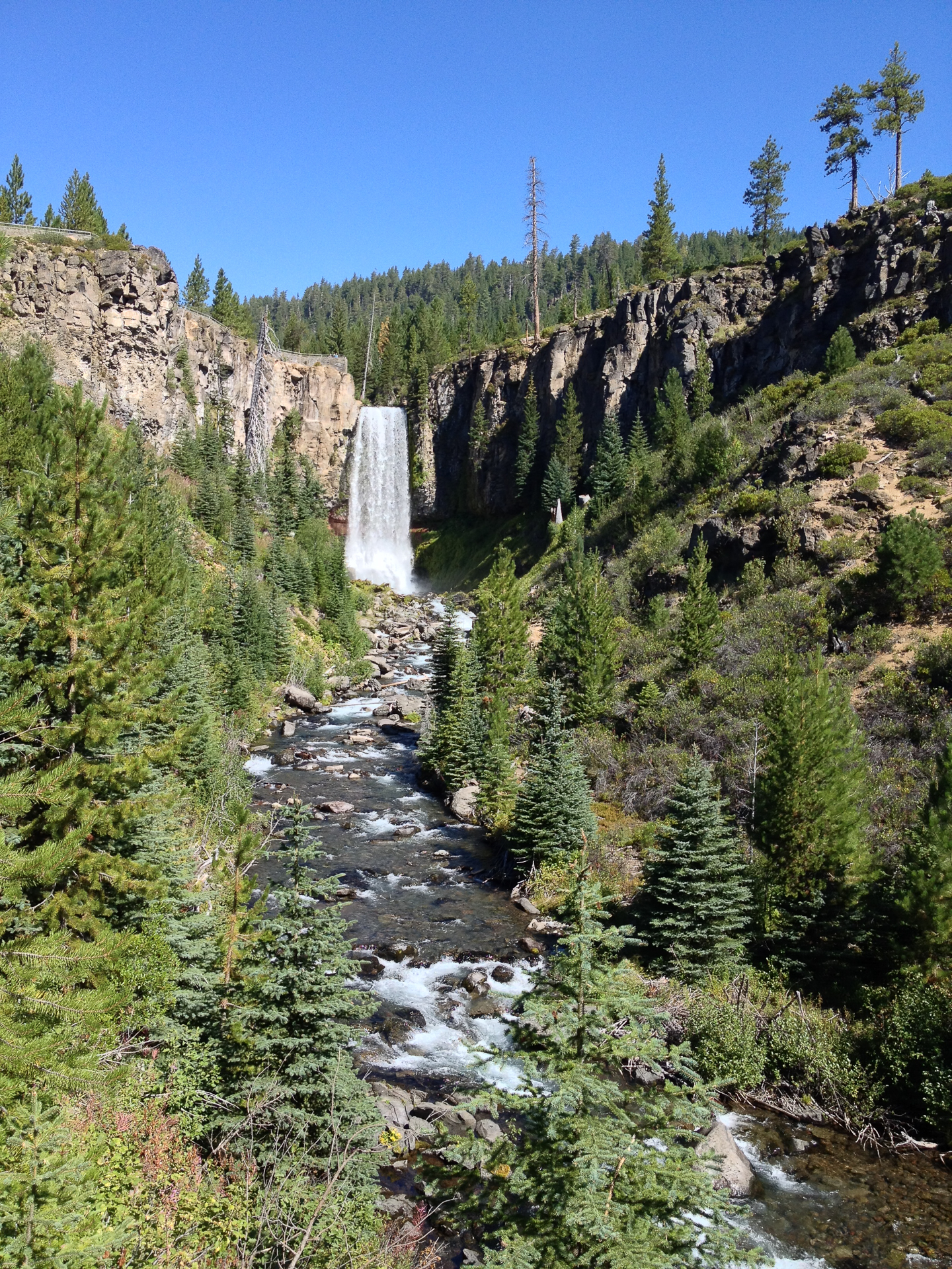 Tumalo Falls, our first rest break.