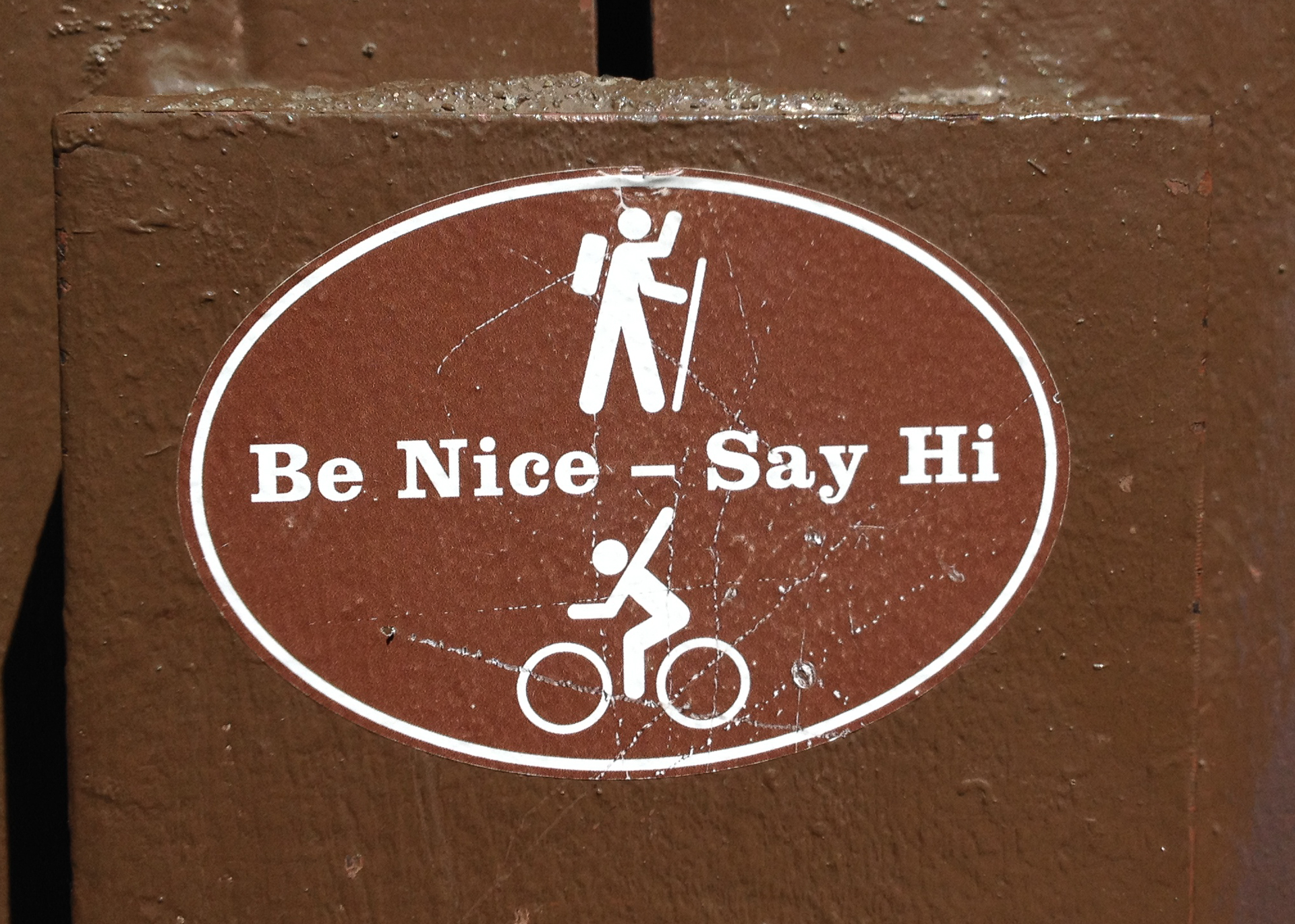 I like the signs they had on the trails.