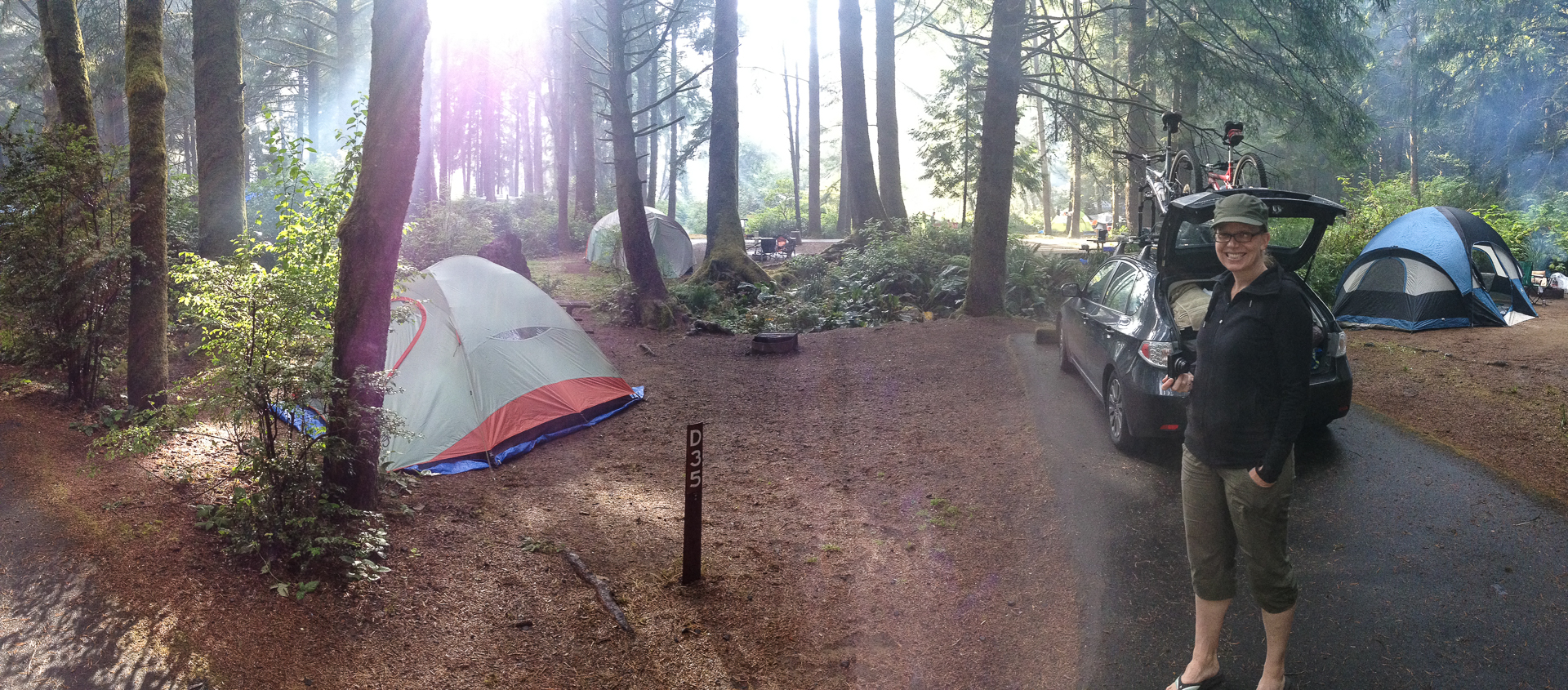 Our last campsite. As you can see, not a lot of privacy.
