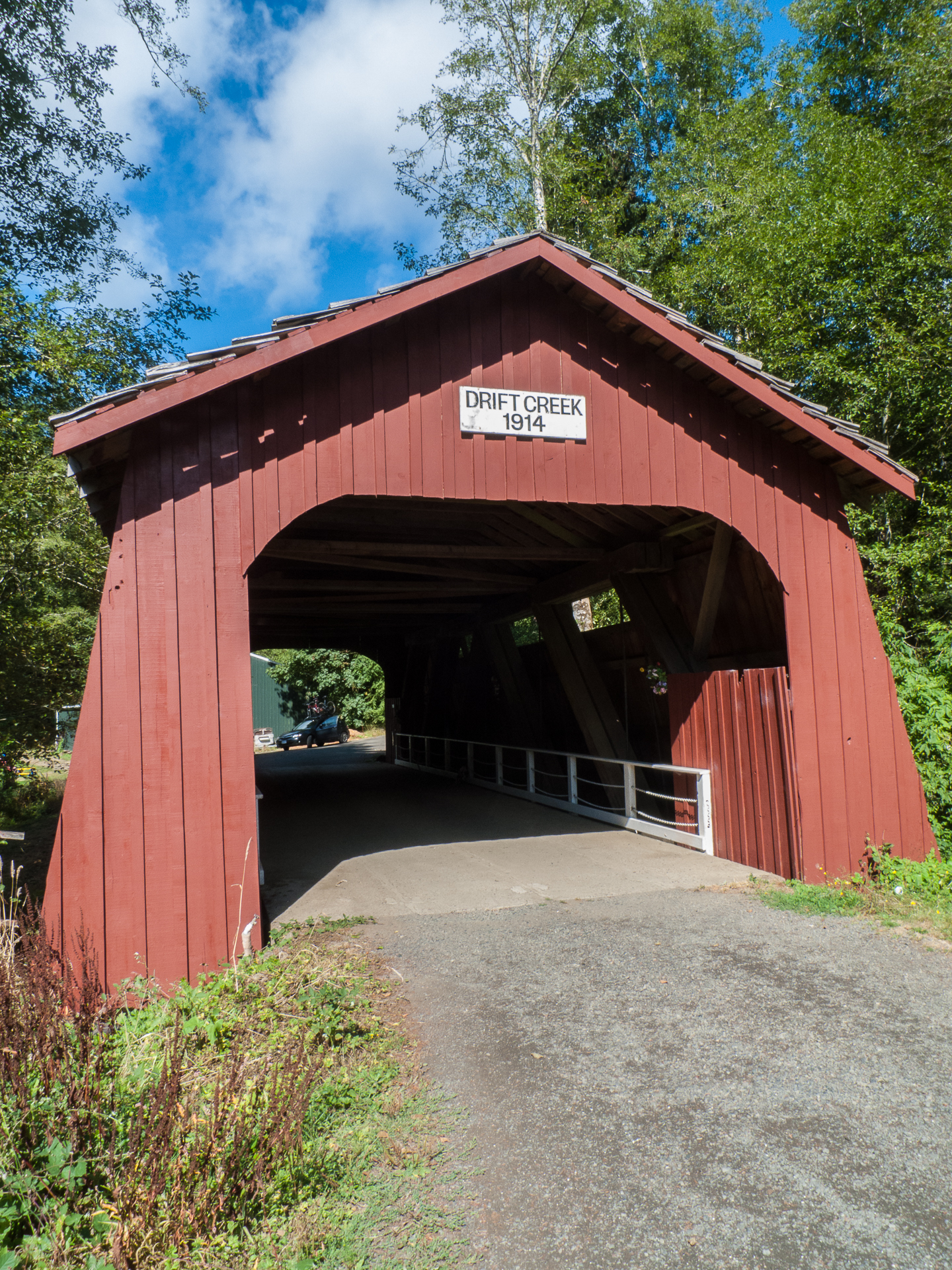 The covered bridge over Drift Creek. In fairness, it was much shorter than I was expecting.