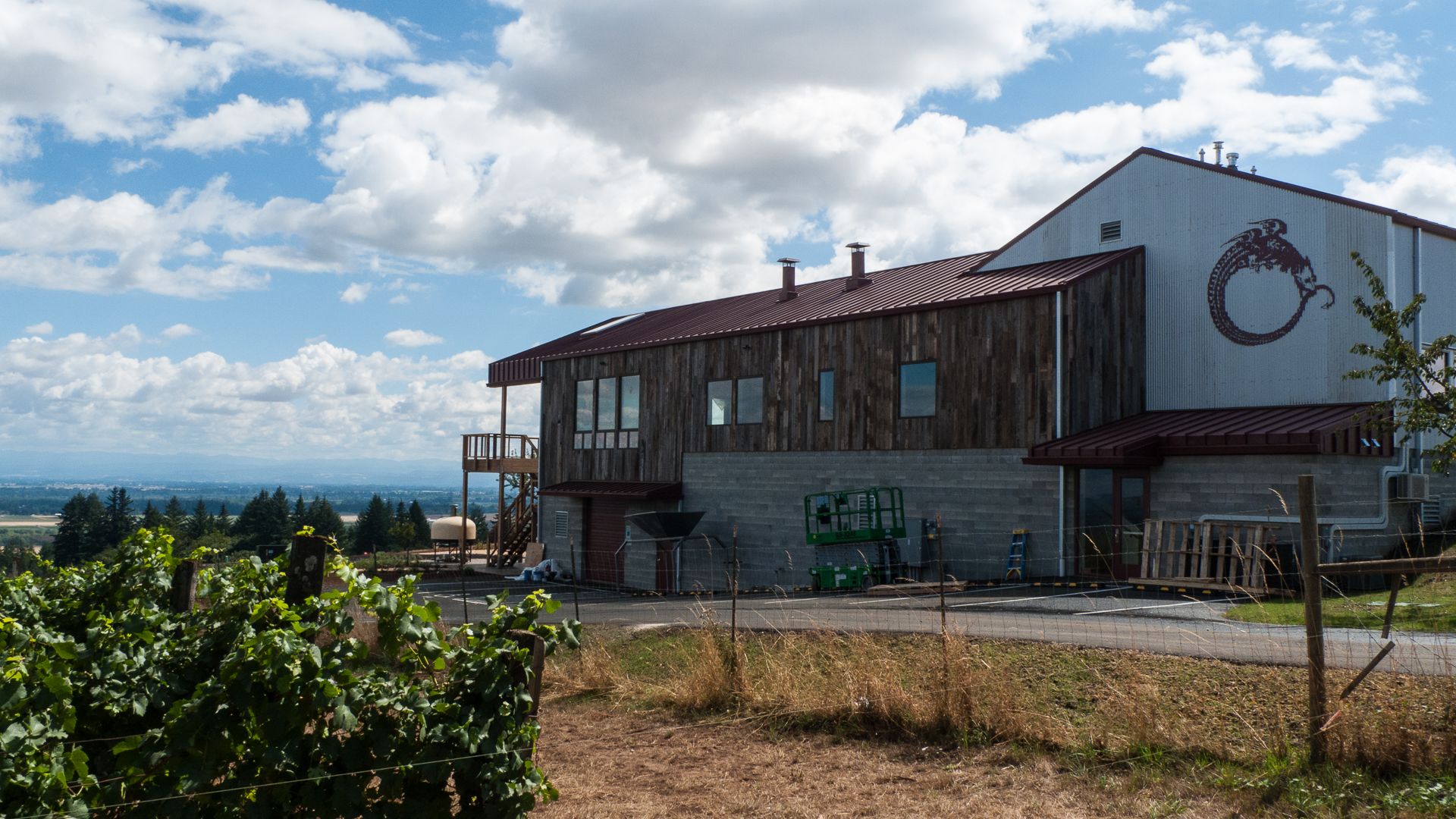 The deck on the new tasting room will have amazing views.
