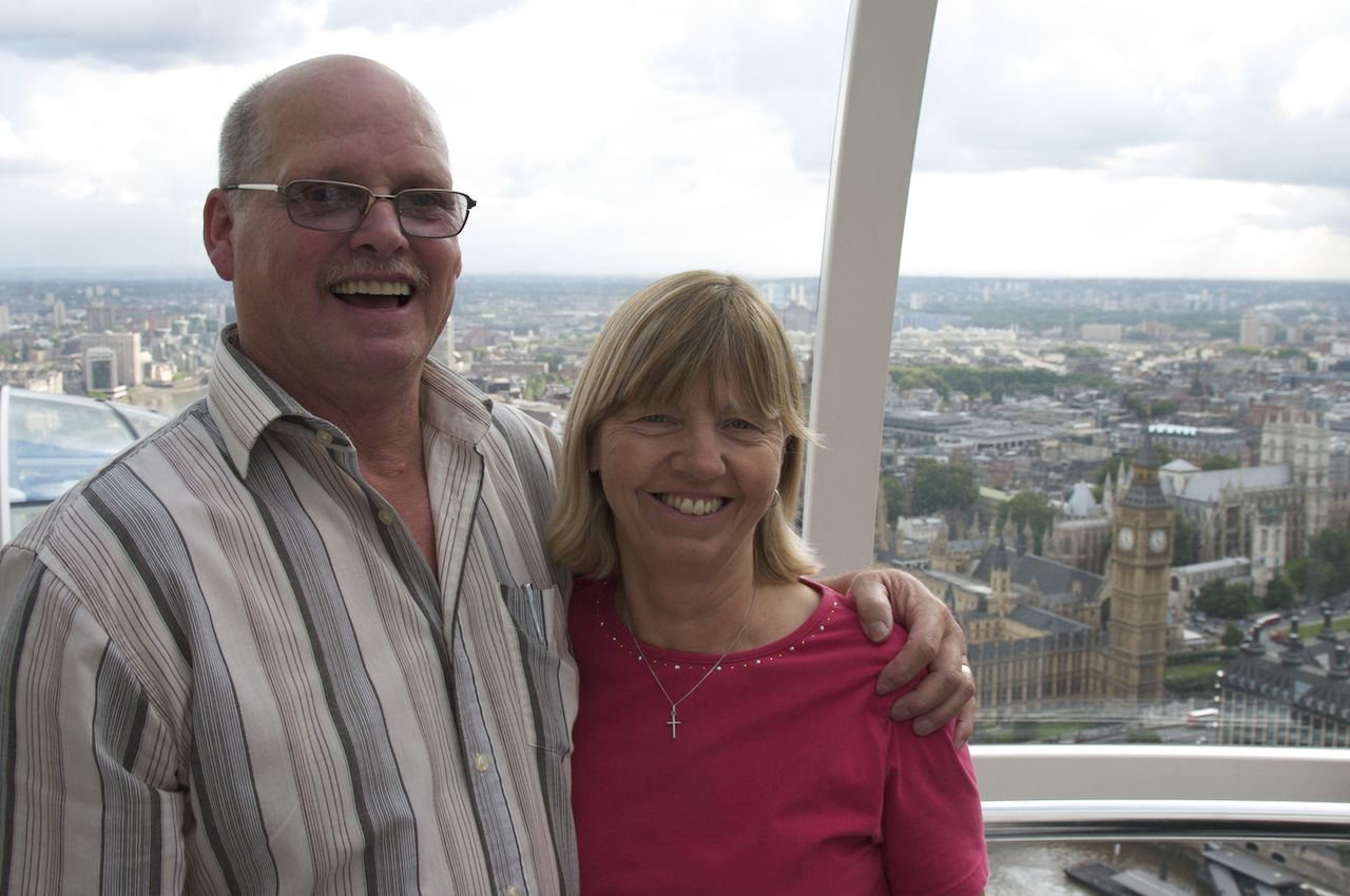 Mom and Dad in the London Eye