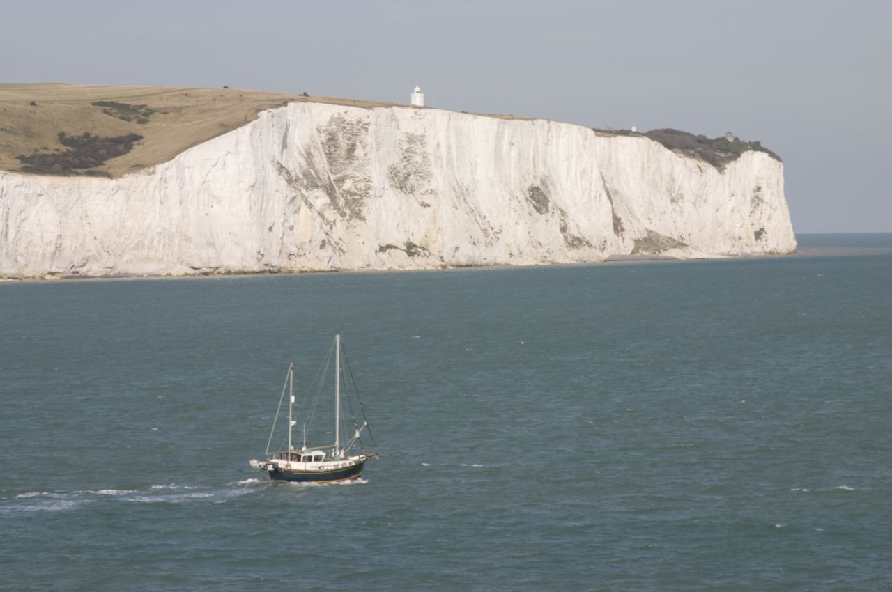 The famous white cliffs of dover.