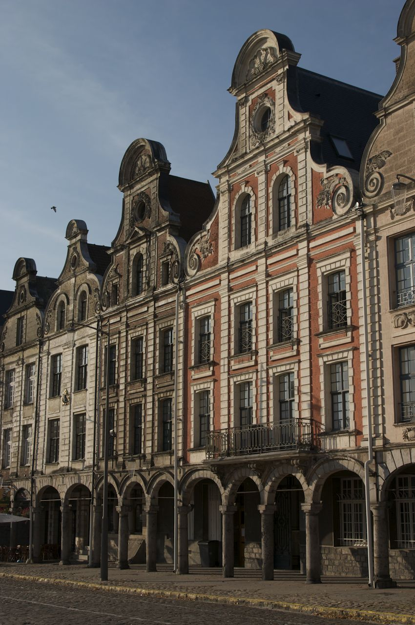 Some of the old buildings in Arras.